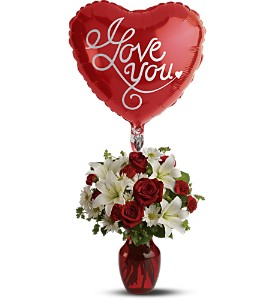 Be My Love with Balloon in Largo FL, Rose Garden Flowers & Gifts, Inc