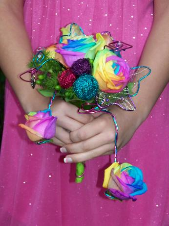 TYE DYE WONDERLAND BOUQUET in Crown Point IN, Debbie's Designs