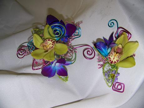 JEWELED ORCHID WRIST in Crown Point IN, Debbie's Designs