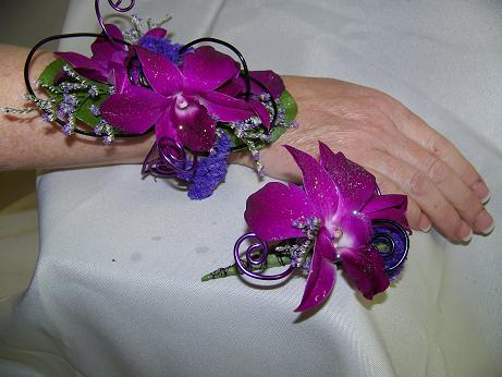 CONTEMPORY ORCHID WRIST in Crown Point IN, Debbie's Designs