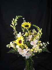 Sunflowers in the mix in Chapel Hill NC, Floral Expressions and Gifts