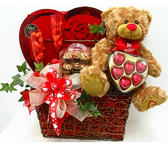GB303 ''Cheers & Chocolates'' Gift Basket in Oklahoma City OK, Array of Flowers & Gifts