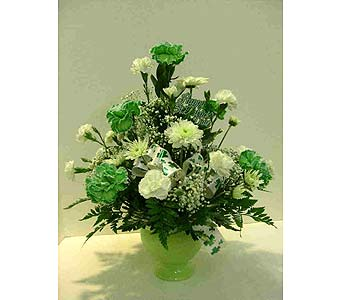 St.Patrick's Day Arrangement in Utica NY, Chester's Flower Shop And Greenhouses