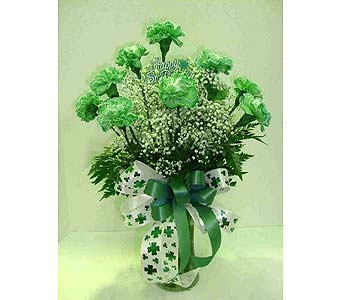 1 Dozen Green Carnations in Utica NY, Chester's Flower Shop And Greenhouses