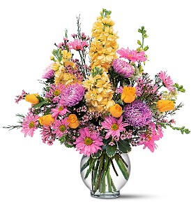 Yellow and Lavender Delight in Newnan GA, Arthur Murphey Florist