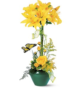 Lily Topiary in Lehigh Acres FL, Bright Petals Florist, Inc.