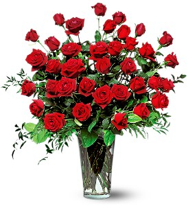 Three Dozen Red Roses in Lewisville TX, D.J. Flowers & Gifts