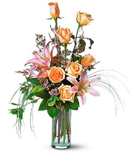 Rose and Lily Splendor in Metairie LA, Golden Touch Florist