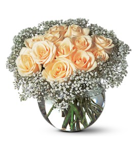 A Dozen White Roses in Dallas TX, Petals & Stems Florist
