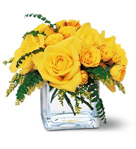 Yellow Rose Bravo! in Santa Monica CA, Edelweiss Flower Boutique