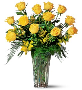 A Dozen Yellow Roses in Indianapolis IN, Steve's Flowers and Gifts