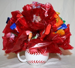 Candy Bouquet in Baseball Mug in Lebanon OH, Aretz Designs Uniquely Yours