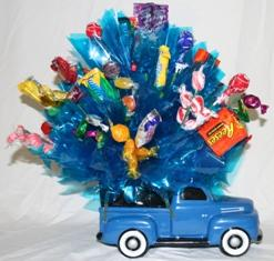 Candy Bouquet in Blue Ford Truck Container in Lebanon OH, Aretz Designs Uniquely Yours