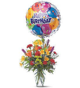 Birthday Balloon Bouquet in Royal Oak MI, Irish Rose Flower Shop