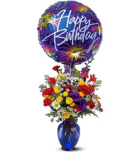 Birthday Fireworks in Mooresville NC, All Occasions Florist & Gifts<br>704.799.0474