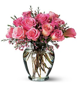 Pink Birthday Roses in Beaumont CA, Oak Valley Florist