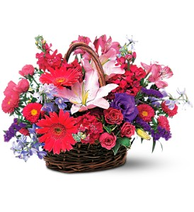 Joyous Birthday Basket in Hudson, New Port Richey, Spring Hill FL, Tides 'Most Excellent' Flowers