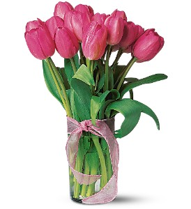Pink Tulips in Hartford WI, Design Originals Floral
