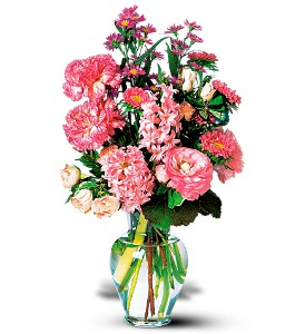 Pink Spring Bouquet in Belford NJ, Flower Power Florist & Gifts
