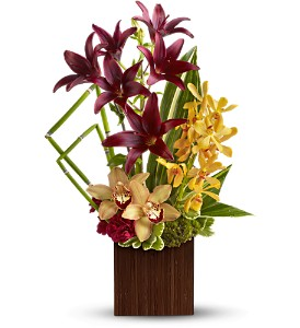 Teleflora's Bamboo Oasis in Largo FL, Rose Garden Flowers & Gifts, Inc