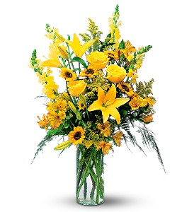 Burst of Yellow in Merced CA, A Blooming Affair Floral & Gifts