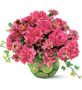 Hot Pink with Limes in Toms River NJ, Dayton Floral & Gifts