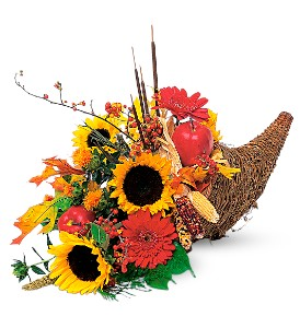 Autumn Cornucopia in Derry NH, Backmann Florist