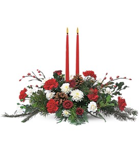 Holiday Delight Centerpiece in Calgary AB, All Flowers and Gifts