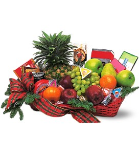 Fruit and Gourmet Basket in Patchogue NY, Mayer's Flower Cottage