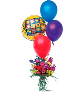 Balloons and a Boost in Friendswood TX, Lary's Florist & Designs LLC