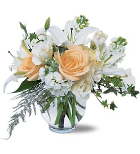White Roses & Lilies in Santa Monica CA, Edelweiss Flower Boutique