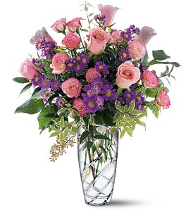 Pink Elegance Bouquet in Modesto, Riverbank & Salida CA, Rose Garden Florist
