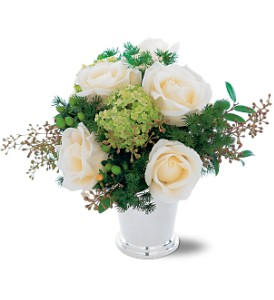Silver Mint Julep Bouquet in Woburn MA, Malvy's Flower & Gifts