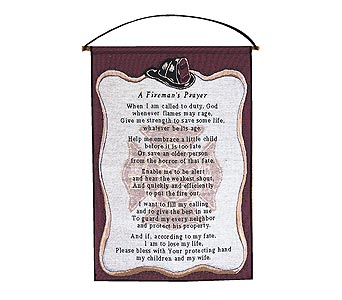 Fireman's Prayer in Fayetteville GA, Our Father's House Florist & Gifts