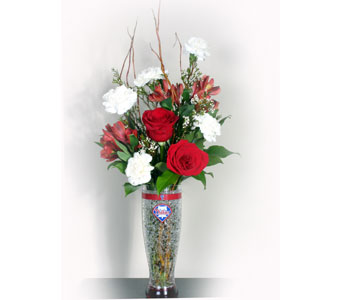 Philadelphia Phillies Freezer Pilsner Bouquet in Norristown PA, Plaza Flowers