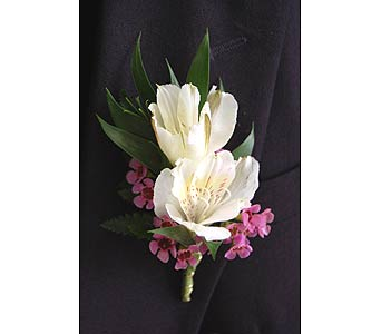Alstroemeria Boutonniere in Towson MD, Radebaugh Florist and Greenhouses