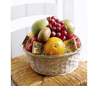 The FTD� Fruit & Chocolate Basket in San Antonio TX, Dusty's & Amie's Flowers