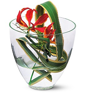 Gloriosa Under Glass in Inglewood CA, Inglewood Park Flower Shop