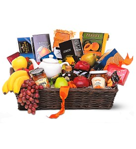 Grande Gourmet Fruit Basket in Orange CA, LaBelle Orange Blossom Florist