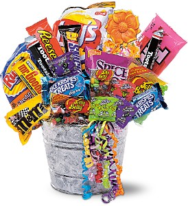 Junk Food Bucket in Saraland AL, Belle Bouquet Florist & Gifts, LLC