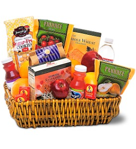 Healthy Gourmet Basket in Charlotte NC, Wilmont Baskets & Blossoms