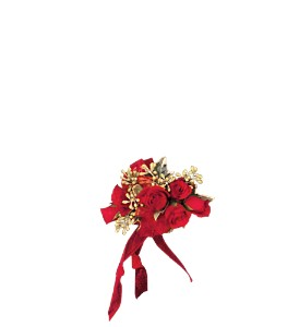 Red-Hot Roses Wristlet in Winnipeg MB, Cosmopolitan Florists