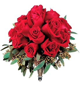 Velvet Red Roses Nosegay in New York NY, CitiFloral Inc.