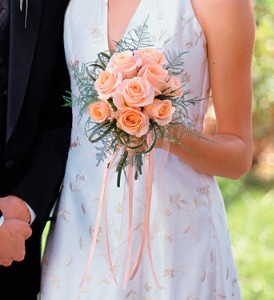 Peach Promise Bouquet in New York NY, CitiFloral Inc.