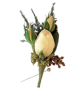 White Spray Rose Boutonniere in Etobicoke ON, Alana's Flowers & Gifts