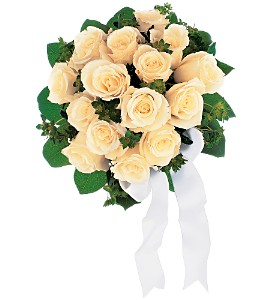 Bountiful White Roses Nosegay in Winnipeg MB, Cosmopolitan Florists