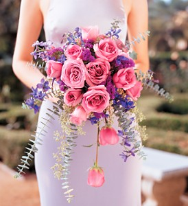 Cascading Lavender Roses Bouquet in New York NY, CitiFloral Inc.