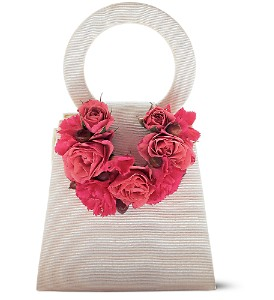 Plush Pinks Purse Corsage in Winnipeg MB, Cosmopolitan Florists