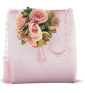 Pink and Green Purse Corsage in Winnipeg MB, Cosmopolitan Florists