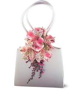 Ruffled Pinks Purse Corsage in Sun City Center FL, Sun City Center Flowers & Gifts, Inc.